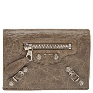 Balenciaga Galet Leather City Bifold Wallet