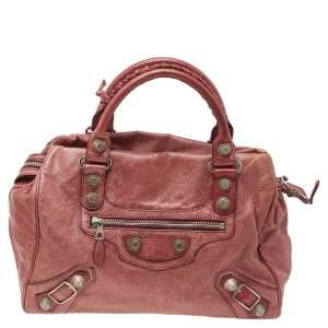 Balenciaga Paprika-Rouille Leather GSH Midday Bag
