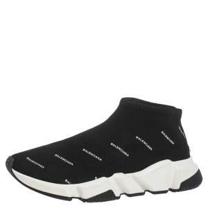 حذاء رياضي بالنسياغا سبيد ترين تريكو طباعة شعار أسود مقاس 40