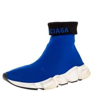 حذاء رياضي بالنسياغا سبيد ترينر قماش تريكو أزرق مقاس 39