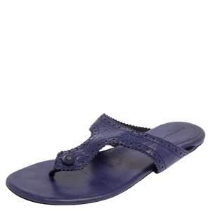 Balenciaga Purple Leather Thong Sandals Size 38