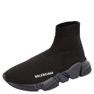 Balenciaga Black Knit Speed.2 Sneakers Size EU 36