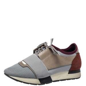 حذاء رياضي بالنسياغا ريس رانر شبكة وسويدي بعنق منخفض مقاس 38