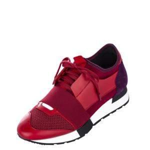 Balenciaga Nylon/Suede Monochrome Race Runner Sneaker EU 35