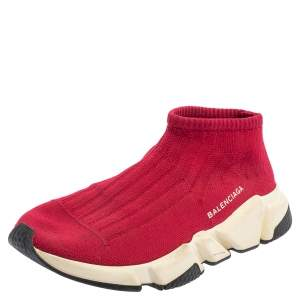 حذاء رياضي بالنسياغا سبيد ترينر تريكو أحمر مقاس 39