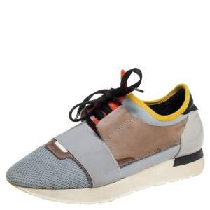 حذاء رياضي بالنسياغا رايس رونرزجلد وشبك متعدد الألوان مقاس 39