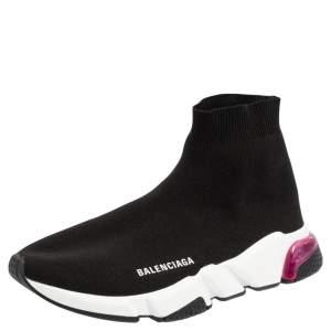 حذاء رياضي بالنسياغا مرتفع من أعلى سبيد ترينر قماش تريكو أسود مقاس 41