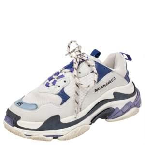 حذاء رياضي بالنسياغا تريبل أس شانكي شبك وجلد متعدد الألوان مقاس 38