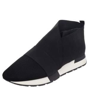 Balenciaga Black Mesh And Fabric Race Runner Sneakers Size 41