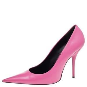 Balenciaga Pink Leather Knife Pumps Size 39