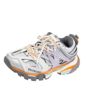 Balenciaga Multicolor Leather And Mesh Track Lace Up Sneakers Size 38