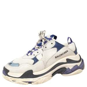 Balenciaga Multicolor Leather And Mesh Triple S Chunky Sneakers Size 38