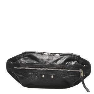 Balenciaga Black Lambskin Leather Motocross Classic Belt Bag
