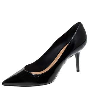 Ballin Black Patent Leather Pointed Toe Pumps Size 38