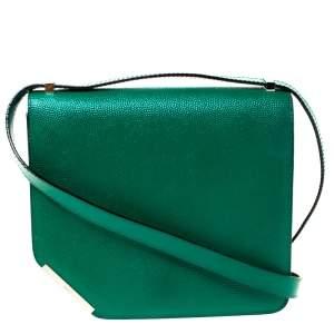 حقيبة كتف بالي ركن جلد أخضر
