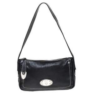 Bally Black Leather Pochette Bag