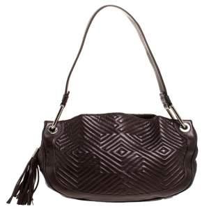 Bally Brown Leather Drawstring Shoulder Bag