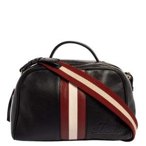 Bally Black Leather Tulie Top Handle Bag