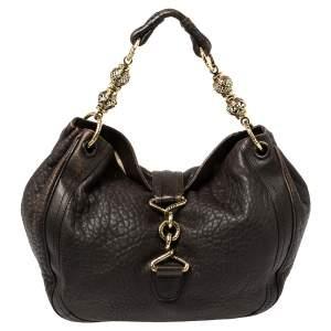 Bally Brown Leather Dasha Hobo