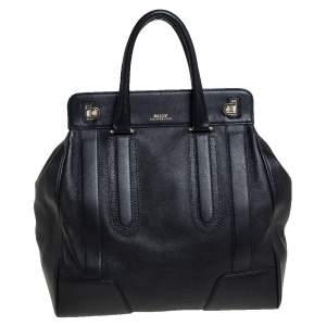 Bally Black Leather Satchel