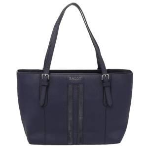 حقيبة يد توتس بالي جلد أزرق ذات سحاب