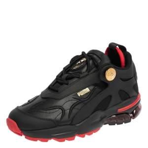 حذاء رياضي بوما x بالمان سيل ستيلر جلد وقماش أسود مقاس 37