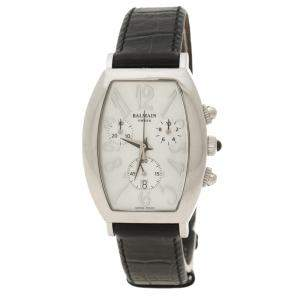 Balmain White Mother of Pearl Stainless Steel Arcade Chronograph Women's Wristwatch 30 mm