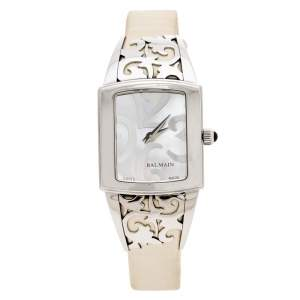 Balmain Mother of Pearl Stainless Steel Elysees Arabesques B3371.51.82 Women's Wristwatch 24 mm