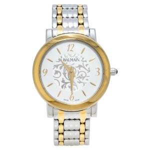 Balmain Silver Two-Tone Stainless Steel Elegance Chic Mini B1692.39.14 Women's Wristwatch 29 mm