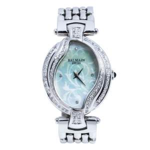 Balmain Mother of Pearl Stainless Steel Diamonds 5451 Women's Wristwatch 30 mm