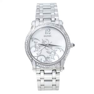Balmain Mother Of Pearl Stainless Steel Diamond Fairy Arabesques 3751 Women's Wristwatch 34 mm