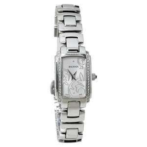 Pierre Balmain White Stainless Steel Diamonds 3655 Women's Wristwatch 19 x 27 mm