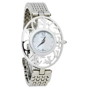 Balmain White Mother of Pearl Stainless Steel 3071 Arabesques Quartz Women's Wristwatch 32MM