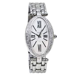 Balmain Silver Stainless Steel Diamonds Ovation Mini Women's Wristwatch 28 mm