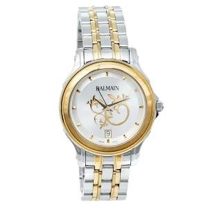 Balmain Silver Two-Tone Stainless Steel Classic B1852.39.16 Women's Wristwatch 34 mm