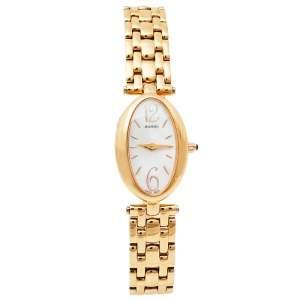 ساعة يد نسائية بالمان بي3259.3384 ستانلس ستيل ذو لون ذهبي وردي و صدف 19 مم