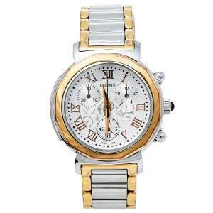 Balmain Silver Two-Tone Stainless Steel Madrigal Chrono 5898 Women's Wristwatch 35 mm