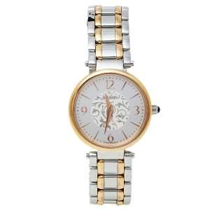 Balmain Silver Yellow Gold PVD Stainless Steel 1658 Bellafina Mini Women's Wristwatch 29MM