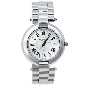 Balmain Silver Stainless Steel 2101 Quartz Women's Wristwatch 35 mm