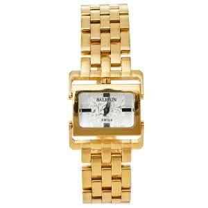 ساعة يد نسائية بالمان 2089  ستانلس ستيل ذهبي اللون فضية 24 مم