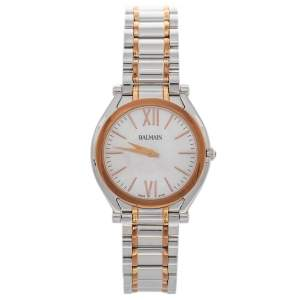 Balmain Mother of Pearl Two-Tone Stainless Steel Euphelia B4158.33.82 Women's Wristwatch 33 mm
