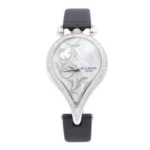 Balmain Mother of Pearl Stainless Steel Diamonds 3431 Women's Wristwatch 31 mm