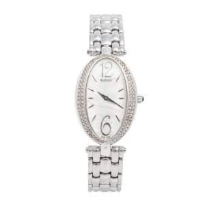 Balmain Mother of Pearl Stainless Steel Diamonds Ovation Mini 3271 Women's Wristwatch 28 mm
