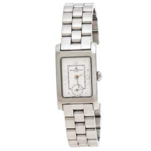 Baume & Mercier White Stainless Steel Hampton MV045139 Women's Wristwatch 20MM