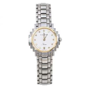 Baume & Mercier White Two-Tone Stainless Steel Riviera 5236.018.3 Women's Wristwatch 26 mm