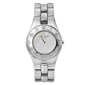 Baume & Mercier White Stainless Steel 5161 Linea Quartz Women's Wristwatch 30 MM