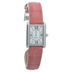 Bernhard H. Mayer Silver Stainless Steel & Leather Optima Women's Wristwatch 23 mm