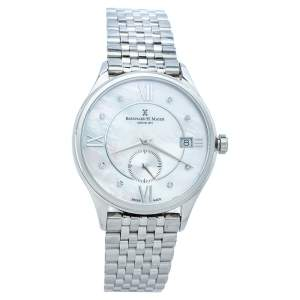 Bernhard H. Mayer Mother Of Pearl Stainless Steel Diamond Muses Women's Wristwatch 36mm