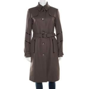 Boss By Hugo Boss Grey Wool Belted Cathlin Over Coat S
