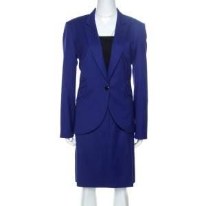 Boss By Hugo Boss Persian Indigo Wool Vatina/Jamoni Skirt Suit L